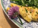 Chive flower omelet